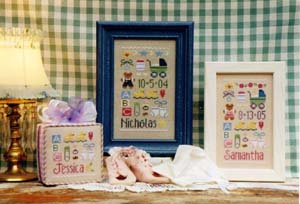 Baby Sampler (w/charms)