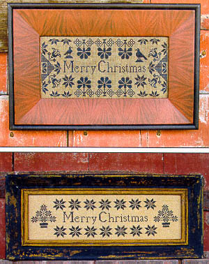Quaker Christmas Samplers