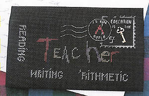 Teacher Embroidered Envelope