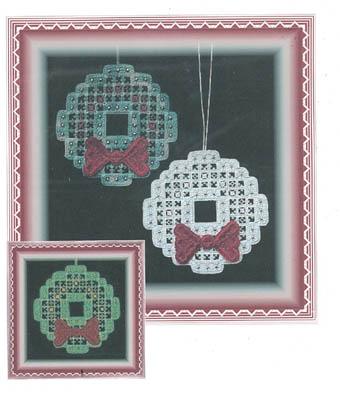 Hardanger Christmas Wreath (w/beads)