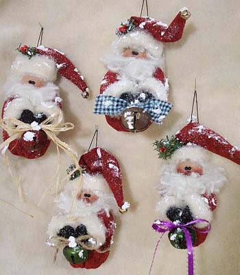 Santa Bells (Ornaments)