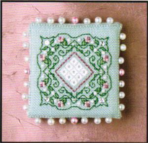 Colonial Roses Pin Keep (w/emb)