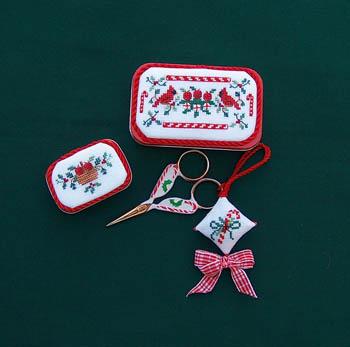 Christmas Sewing Tins