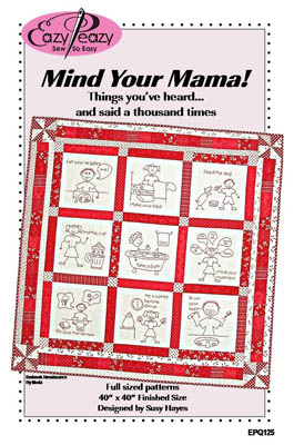 Mind Your Mama (Redwork)