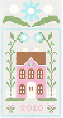 Spring Social 3-Pretty Pink House (w/threads)