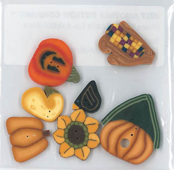 Autumn Harvest Button Pk (9611)