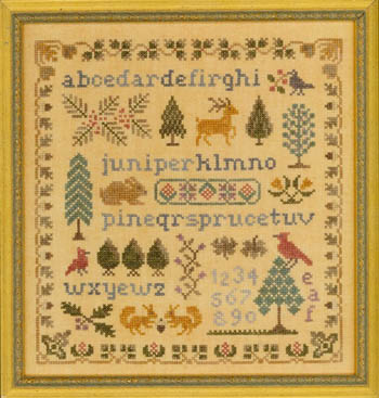 Antique Evergreen Sampler