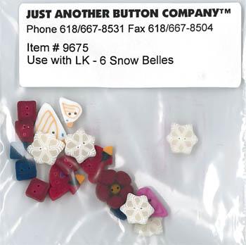 6 Snow Belles Button Pack (9675)