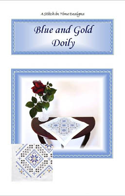 Blue And Gold Doily