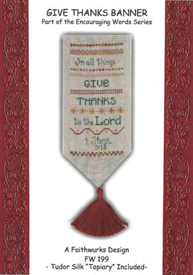 Give Thanks Banner (w/silk)