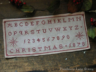 Christmas 1878 Marking Sampler