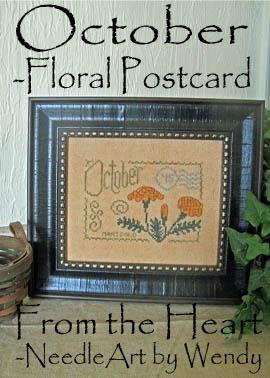 Floral Postcard - October