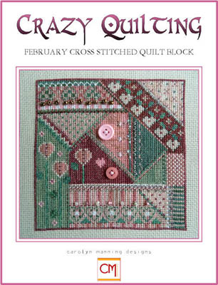Crazy Quilting, February CrossStitch Block