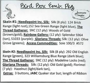 Bird Box Emb. Pkg.