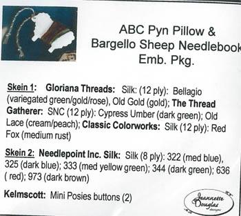 ABC Pyn Roll & Bargello SheepNeedlekeep Emb.