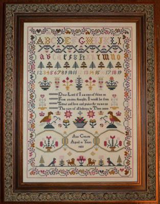 Ann Croxen 1833 Sampler