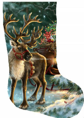 Enchanted Christmas Reindeer Stocking