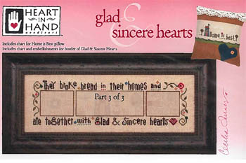 Glad & Sincere Hearts - 3 (w/embellishments)