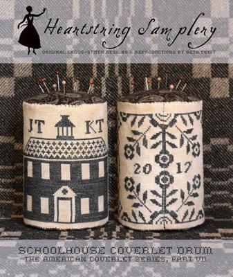 Schoolhouse Coverlet Pin Drum