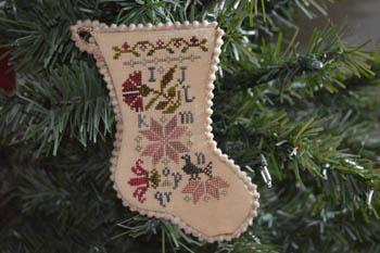 Sampler Stocking Ornament 2