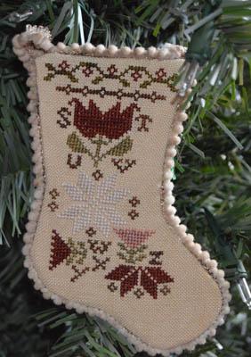 Sampler Stocking Ornament 3
