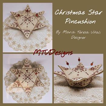Christmas Star Pincushion