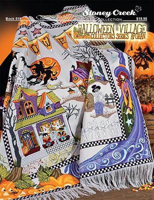Halloween Village Collectors Series Afghan