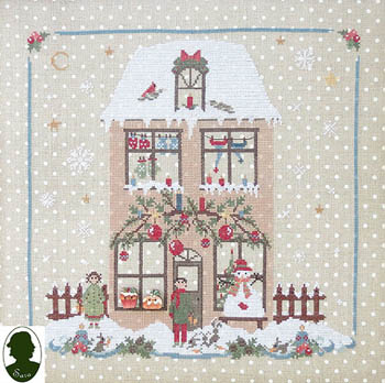 Christmas Avenue - Family House (includes 2 buttons)