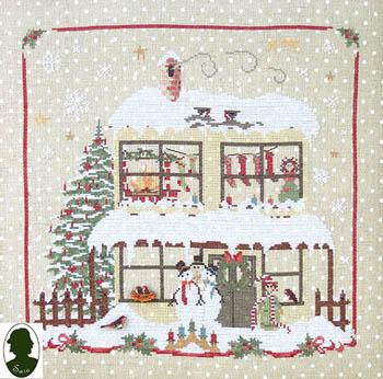 Christmas Avenue - Snowmen's House (includes 2 buttons)