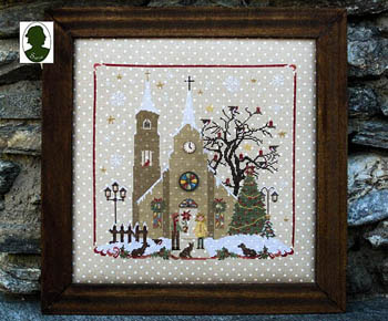 Christmas Avenue - Church (includes 2 buttons)