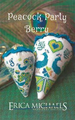 Peacock Party Berry - Linen