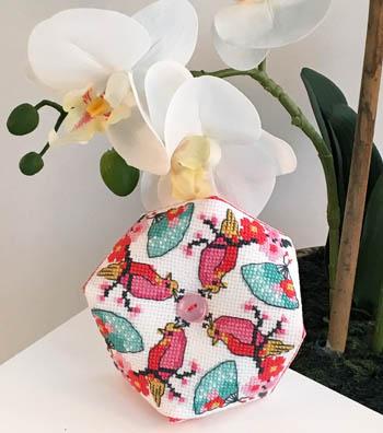 Cherry Blossom Biscornu