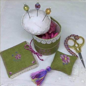 Cherry Blossom Pincushion Sewiing Set