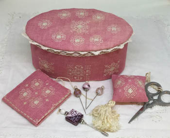 Ca'Rosada - Pink Sewing Box &Lace From Venice