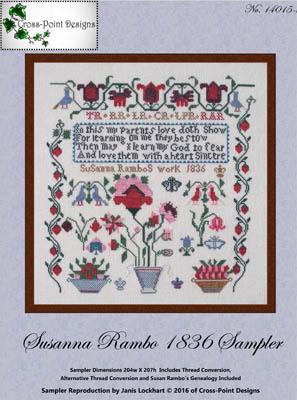 Susanna Rambo 1836 Sampler