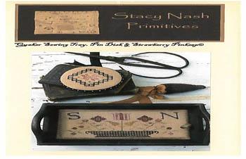 Quaker Sewing Tray, Pin Disk &Strawberry Pinkeep