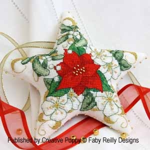 Poinsettia Star Ornament