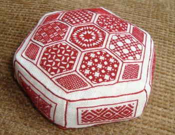 Red And White Pincushion