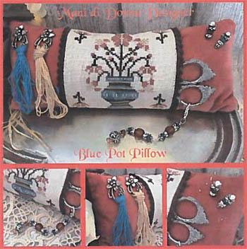 Blue Pot Pillow