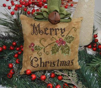 Primitive Merry Christmas Pillow