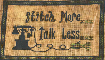 Stitch More Talk Less