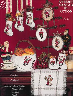 Antique Santas In Action