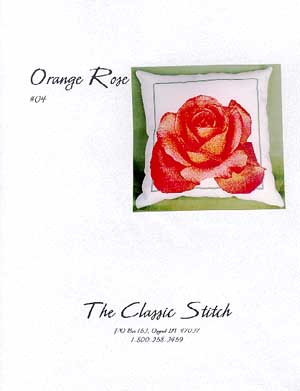 Orange Rose Pillow