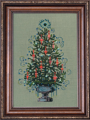 Christmas Tree 2008 (w/beads & floss)