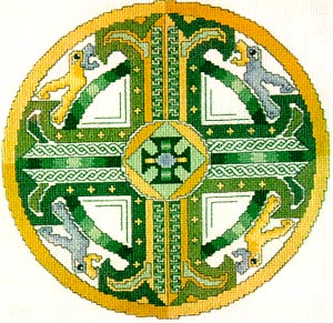 Celtic Emerald Cross