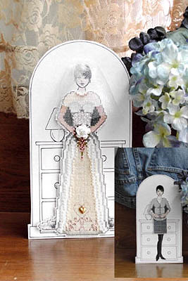 Embroidered Paper Doll