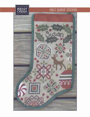 Holly Quaker Stocking