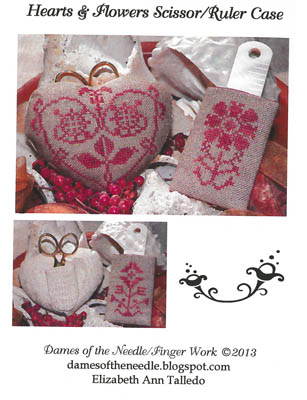 Hearts & Flowers Scissor/RulerCase