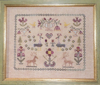 Flowers And Peacock Sampler