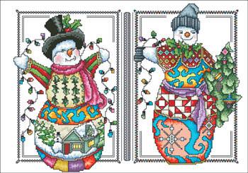 Two Happy Snowmen